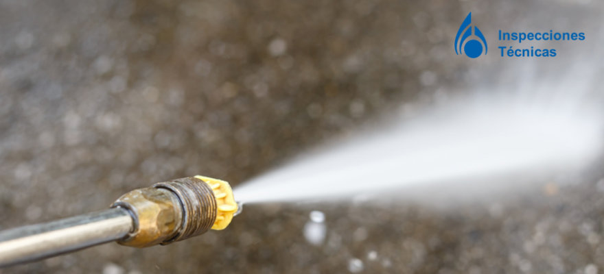 limpieza con agua a alta presion